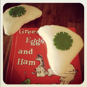 The green eggs (sans ham, I did make one though). A gift for Jake and Sio's baby shower.